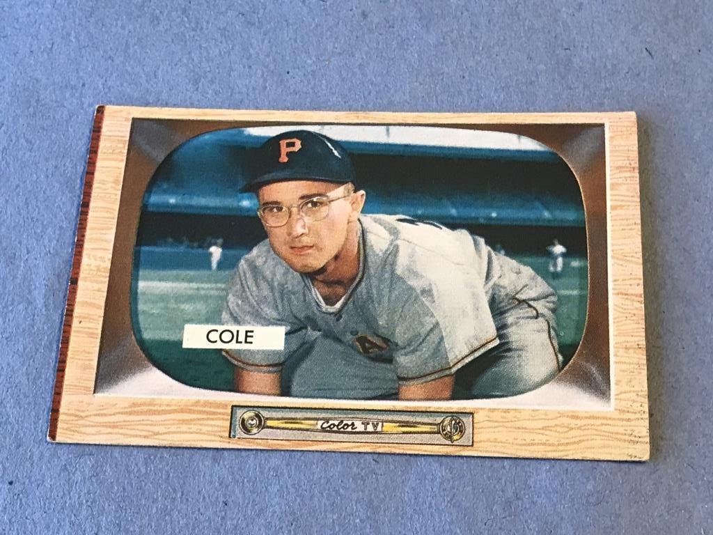Lot Dick Cole 28 Pirates 1955 Bowman Baseball Card Proxibid Auctions