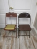 Lot of 2 Vintage Metal Folding Chairs