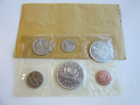 1965 Canada Uncirculated Silver Coin Set