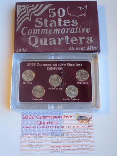 2006 Denver Mint 50 State Commemorative Quarters