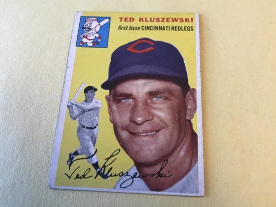 TED KLUSZEWSKI Redlegs 1954 Topps Baseball Card