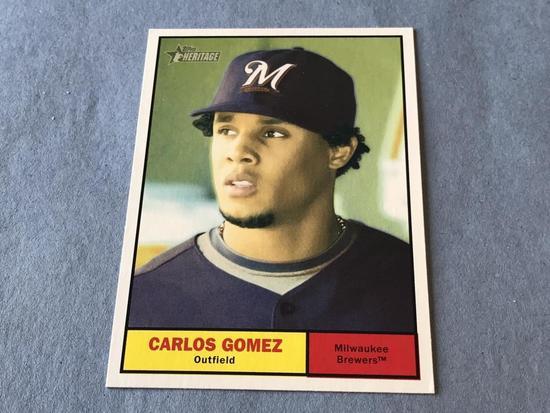 CARLOS GOMEZ 2010 Topps Heritage Baseball SP