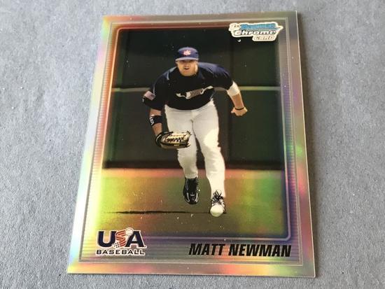 MATT NEWMAN 2010 Bowman Chrome USA REFRACTOR