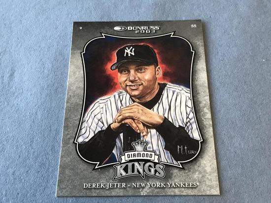 DEREK JETER 2002 Donruss Diamond Kings Baseball