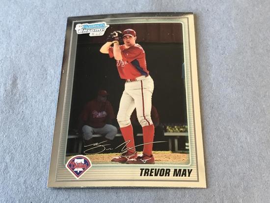 TREVOR MAY 2010 Bowman Chrome ROOKIE Card