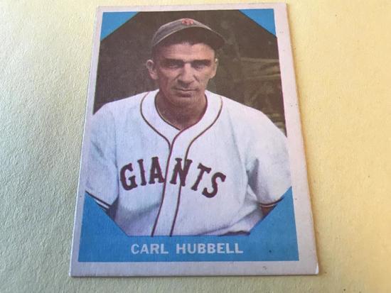 CARL HUBBELL 1960 Fleer Baseball Great Card