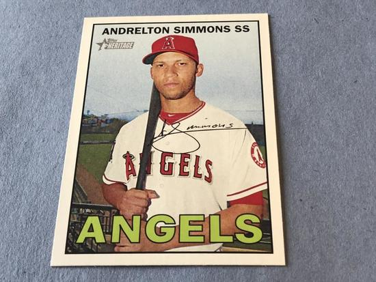 ANDRELTON SIMMONS 2016 Topps Heritage  SP BX 25L