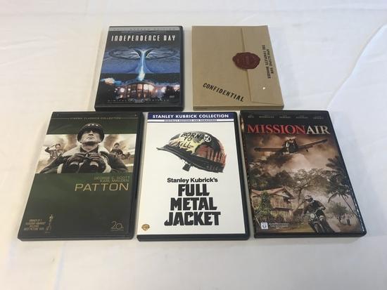 Lot of 13 WAR DVD Movies-Apocalypse Now, Patton