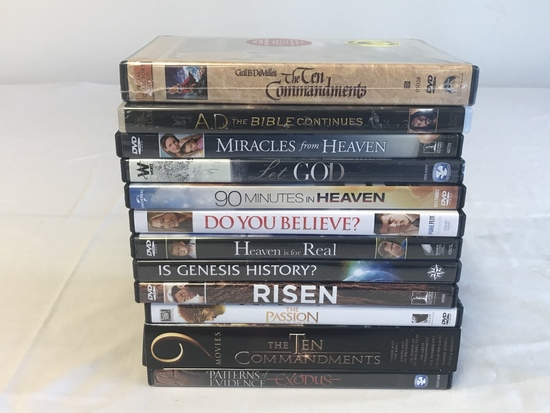Lot of 12 DRAMA DVD Movies-Heaven is For Real