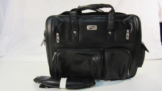 American Tourister Leather Shoulder Bag