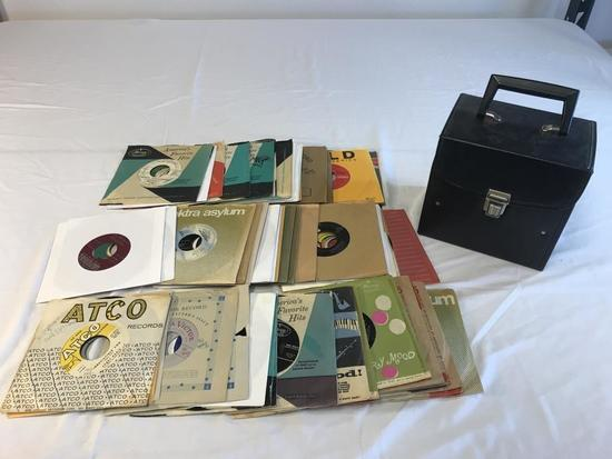 Lot of 63 RPM Records 1950's-1960's with case