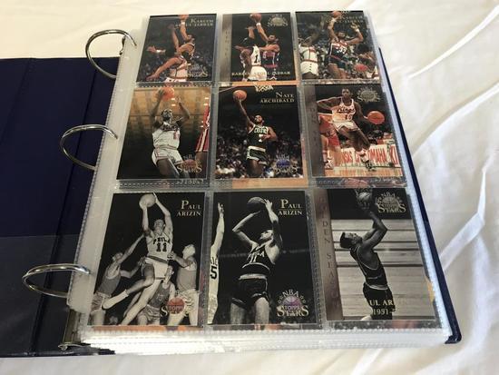 Binder full of 1996 Topps Stars Basketball Cards