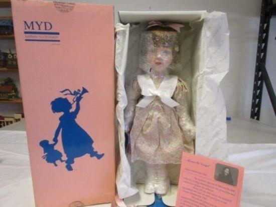"Marian Yu Designs 17"" Porcelain Floral Dress Doll"