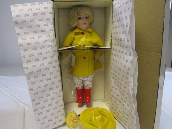 "Princeton Gallery 15"" Porcelain  It's Raining Doll"