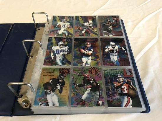 Binder full of 1996 Playoff Football Cards