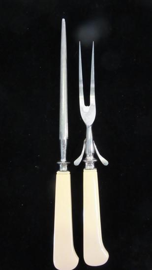 Vintage Lee's Serving Fork and Knife Sharpener
