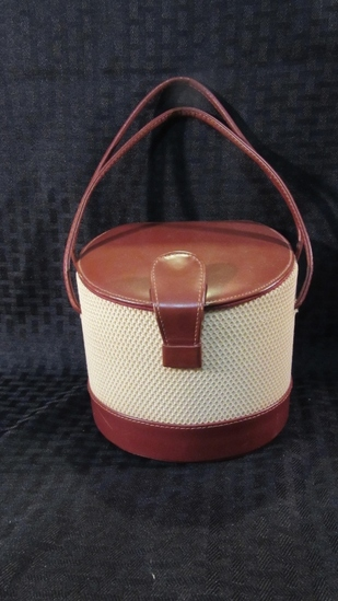 Hand Purse with Leather Accents