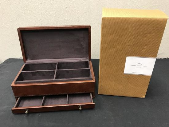 Pottery Barn Saddle Leather Valet New in Box