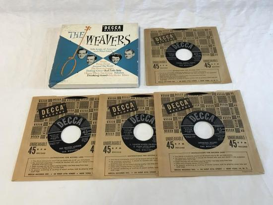 THE WEAVERS Folk Songs Of America 45 RPM 4 Records