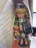 """Marian Yu Designs 14""""  Doll """"Girl with bear"""