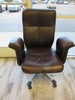 Sharper Image Leather Arm Office Chair
