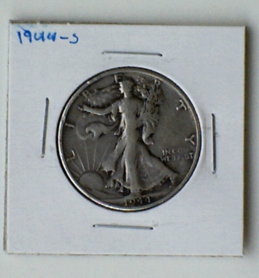 1944-S Walking Liberty Silver Half Dollar