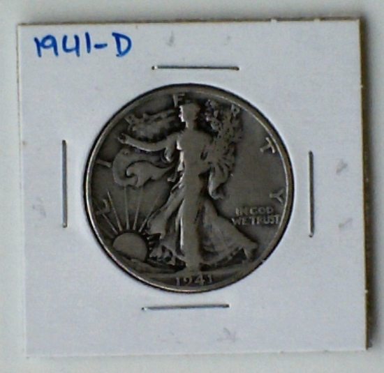 1941-D Walking Liberty Silver Half Dollar
