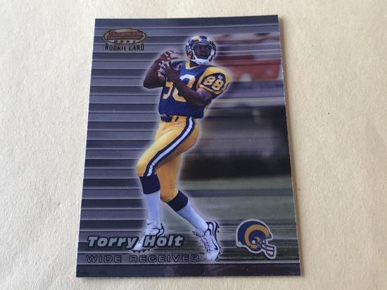 TORRY HOLT 1999 Bowman Best Football ROOKIE Card