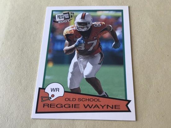 REGGIE WAYNE 2001 Press Pass Football ROOKIE Card