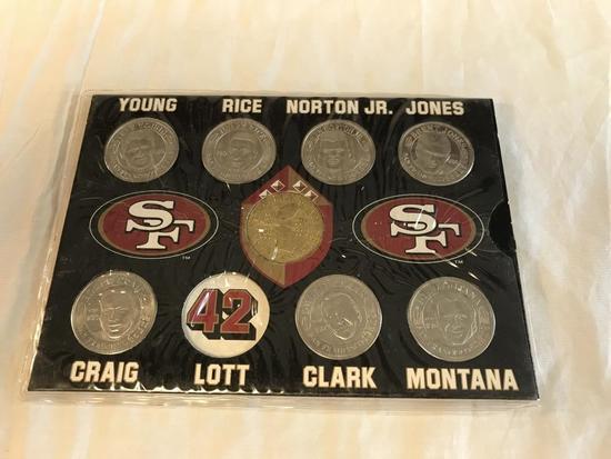 1995 San Francisco 49ers Football Save Mart Coins