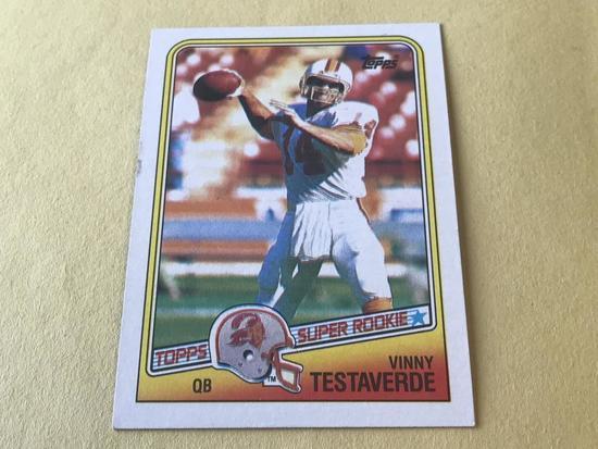 VINNY TESTAVERDE 1988 Topps Football ROOKIE Card