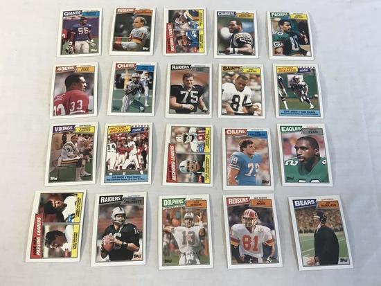 1987 Topps Football Cards Lot of 20 Stars & HOF