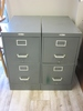 Lot of 2 Metal Dubin Co. File Cabinets