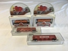 Lot of 4 HO Scale Train Freight Cars NEW