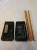 2 vintage drafting rulers and 2 instant spellers