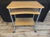 "Wooden Desk 16.5""L 28""W 30""H on Rollers"