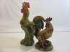 Lot of 2 Decorative Roosters