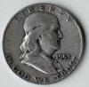 1953-D Franklin Silver Half Dollar Coin