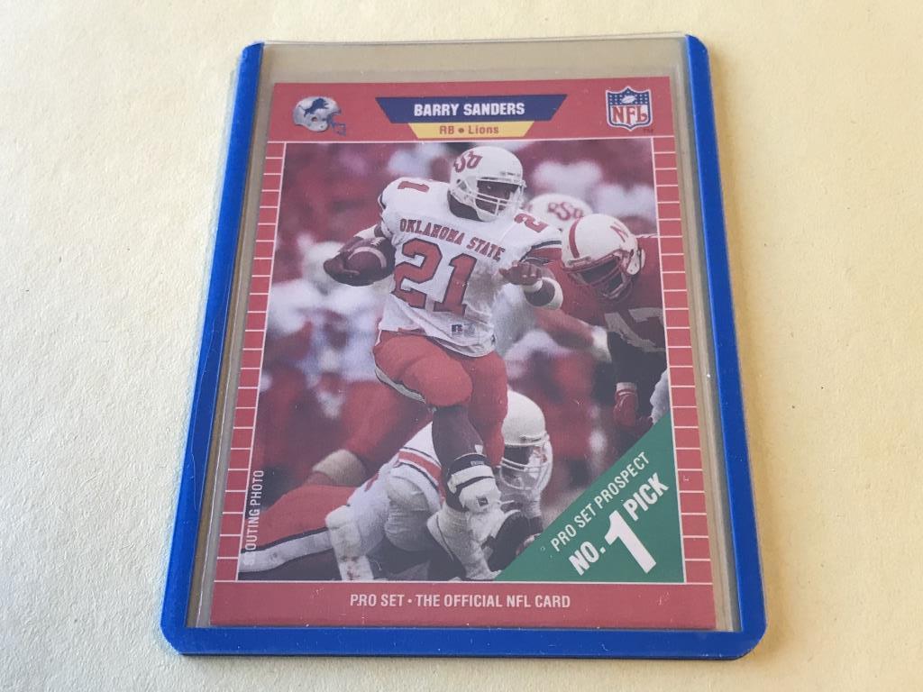 Lot Barry Sanders Lions 1989 Pro Set Rookie Card Proxibid