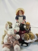 Lot of 6 Large Ty Collectibles &1 Porcelain Doll