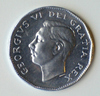 1951 Canada 5 cents coin The Big Nickel George VI