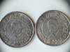 2 China Yuan Shikai Tokens with Mustache and Flags