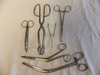 Lot of 6 Medical Clamps and Scissors