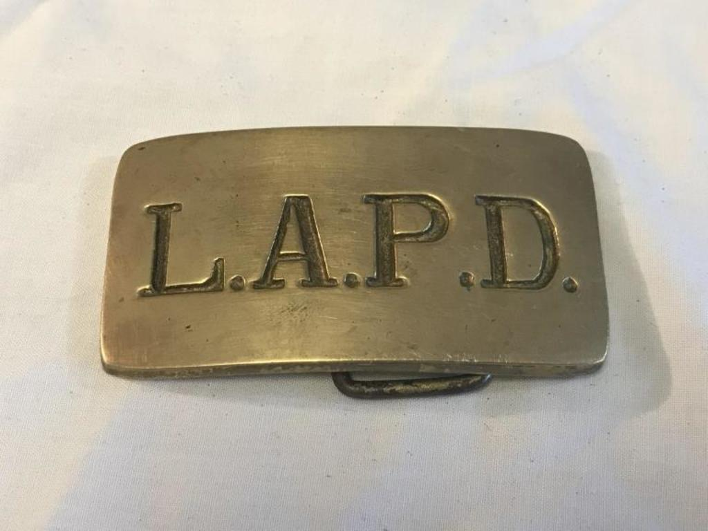 Los Angeles Police Dept Lapd Brass Belt Buckle Art Antiques Collectibles Collectibles Vintage Retro Collectibles Auctions Online Proxibid