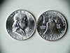 Two 1962-D .90 Silver Franklin Half Dollars
