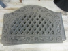 x$ Decorative Black Outdoor Floor Mat