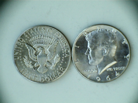Pair of 1964 .90 Silver Kennedy Half-Dollars