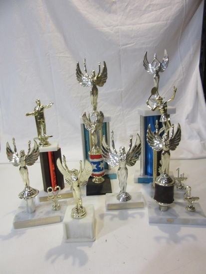 Lot of 9 Vintage Trophies