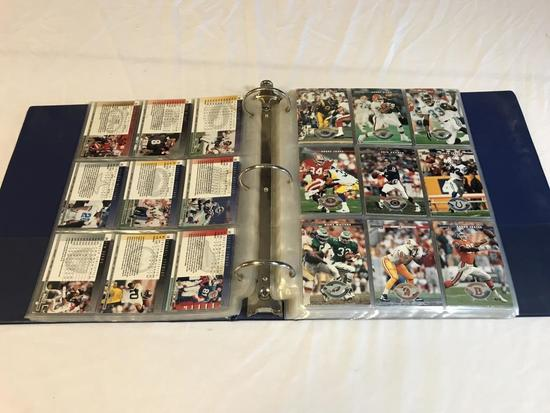 1996 Donruss Football Card Set in binder