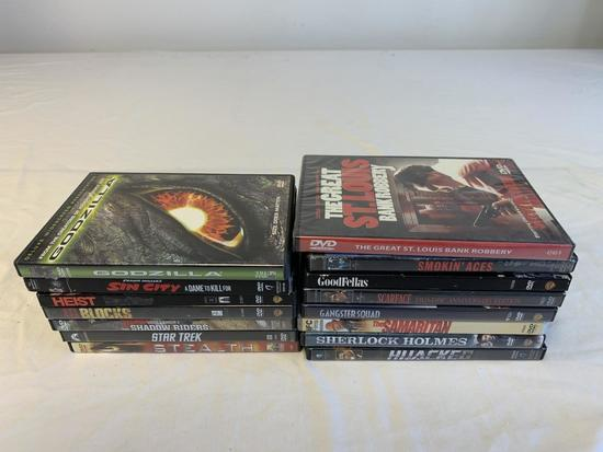 DVD Lot of 15 ACTION Movies-Scarface, Goodfellas